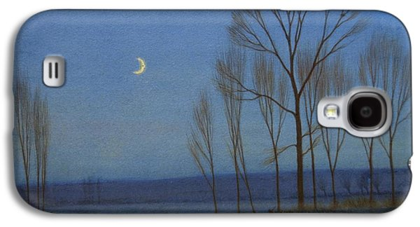 Shepherd And Sheep At Moonlight Galaxy S4 Case