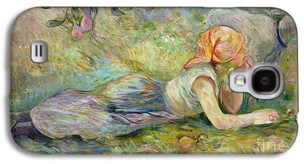 Shepherdess Resting Galaxy S4 Case by Berthe Morisot
