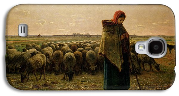Shepherdess With Her Flock Galaxy S4 Case by Jean Francois Millet