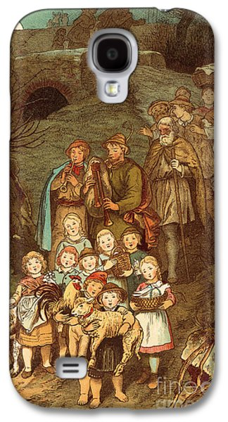 Shepherds On Their Way To Bethlehem Galaxy S4 Case by Victor Paul Mohn
