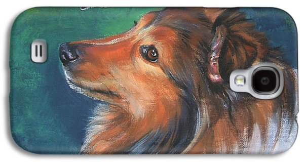 Shetland Sheepdog And Butterfly Galaxy S4 Case