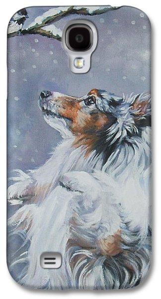 Shetland Sheepdog With Chickadee Galaxy S4 Case