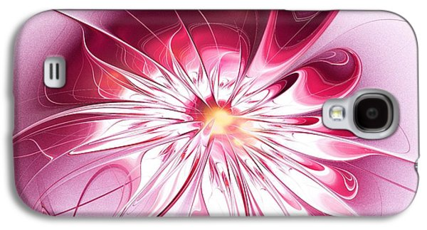 Shining Pink Flower Galaxy S4 Case