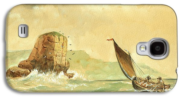 Ship At The Storm Galaxy S4 Case by Juan  Bosco