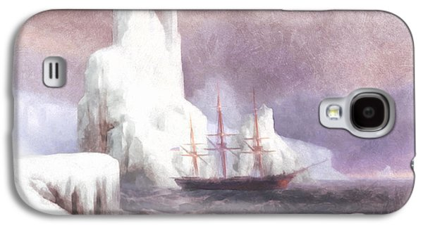 Ship In Winter Galaxy S4 Case by Georgiana Romanovna