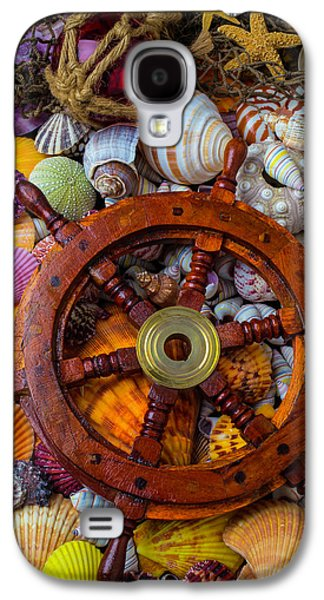 Ships Wheel Among Seashells Galaxy S4 Case