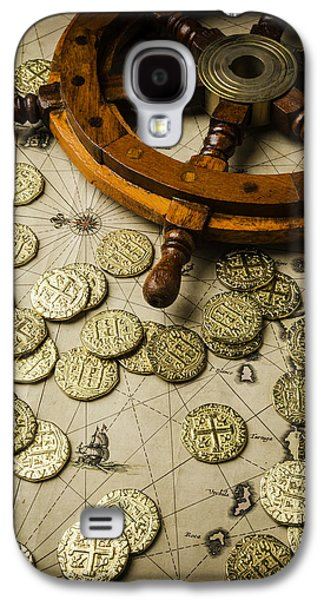 Ships Wheel And Gold Coins Galaxy S4 Case