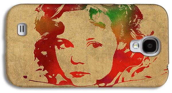 Shirley Temple Watercolor Portrait Galaxy S4 Case by Design Turnpike
