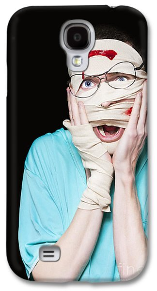Shocked Patient Nursing A Broken And Bloody Head Galaxy S4 Case by Jorgo Photography - Wall Art Gallery