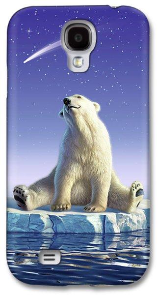 Polar Bear Galaxy S4 Case - Shooting Star by Jerry LoFaro