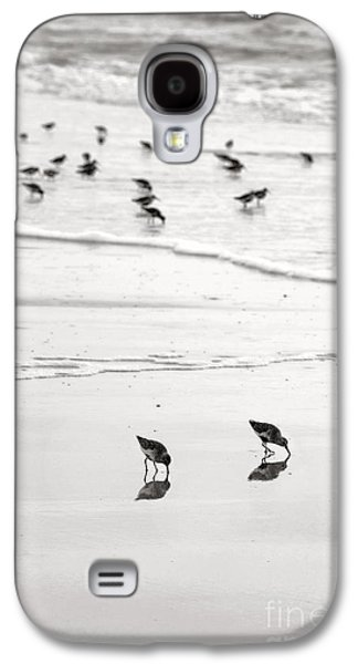 Plundering Plover Series In Black And White 7 Galaxy S4 Case