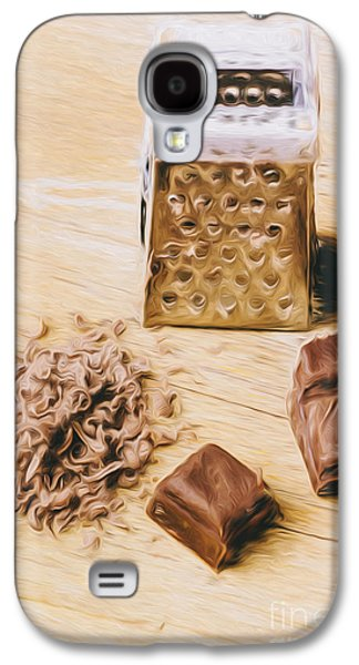 Shredded Chocolate Flakes Fine Art Drawing Galaxy S4 Case by Jorgo Photography - Wall Art Gallery