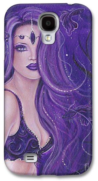 Shreya Purple Mermaid Galaxy S4 Case by Renee Lavoie