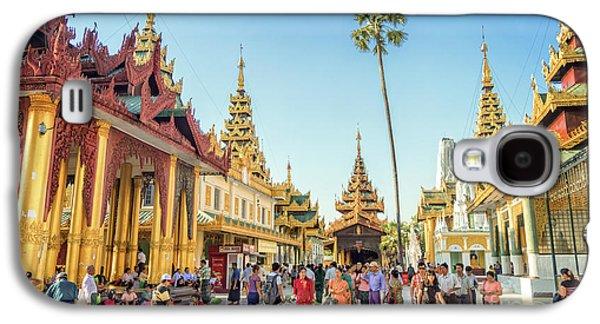 Burmese Python Galaxy S4 Case - Shwedagon Pagoda by Delphimages Photo Creations