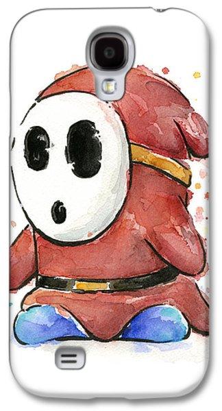Shy Guy Watercolor Galaxy S4 Case by Olga Shvartsur