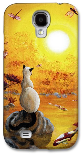 Siamese Cat With Dancing Dragonflies Galaxy S4 Case