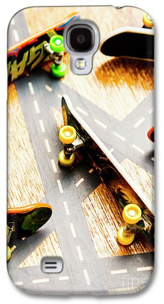 Side Streets Of Skate Galaxy S4 Case