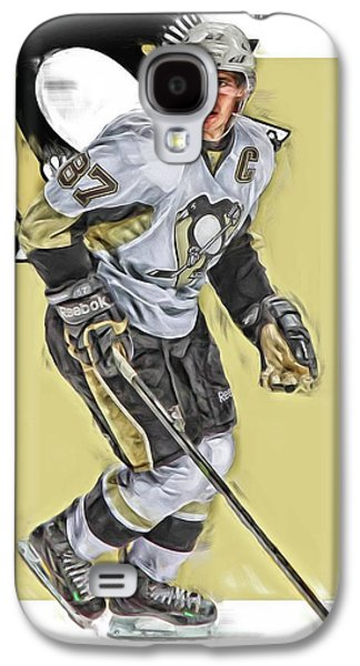 Sidney Crosby Pittsburgh Penguins Oil Art Galaxy S4 Case by Joe Hamilton