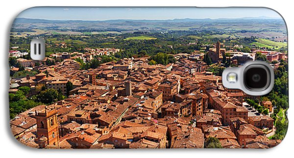 Siena, Italy Panoramic Rooftop City View Galaxy S4 Case by Michal Bednarek