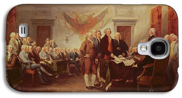 Signing The Declaration Of Independence Galaxy S4 Case by John Trumbull