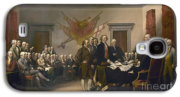 Signing The Declaration Of Independence, July 4th, 1776 Galaxy S4 Case by John Trumbull
