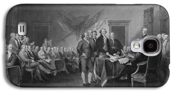 Declaration Of Independence Galaxy S4 Cases - Signing The Declaration of Independence Galaxy S4 Case by War Is Hell Store