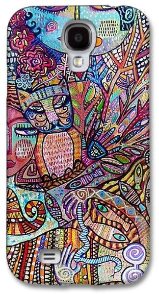 Angel Mermaids Ocean Galaxy S4 Case - Silberzweig Tree Of Creation Goddess Spirit by Sandra Silberzweig