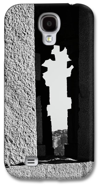 Galaxy S4 Case featuring the photograph Silhouette Of Pillars, Hampi, 2017 by Hitendra SINKAR