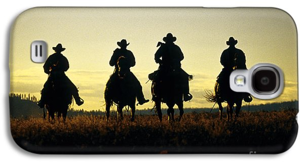 Silhouetted Cowboys Galaxy S4 Case