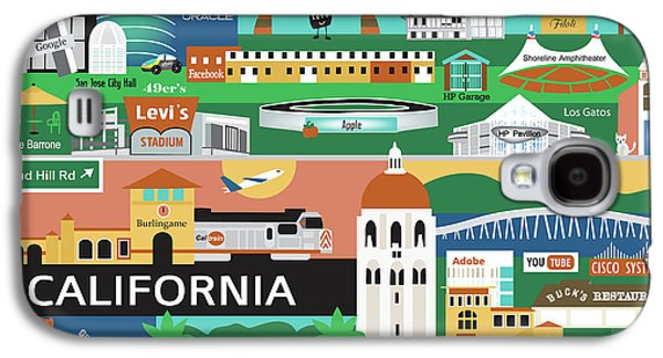Stanford Galaxy S4 Case - Silicon Valley California Horizontal Scene - Collage by Karen Young