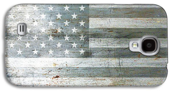 Silver American Flag Galaxy S4 Case