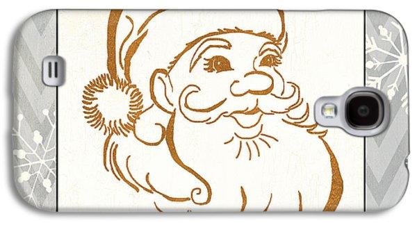 Silver And Gold Santa Galaxy S4 Case