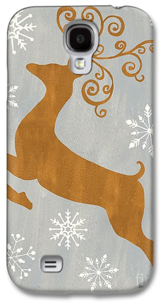 Silver Gold Reindeer Galaxy S4 Case by Debbie DeWitt