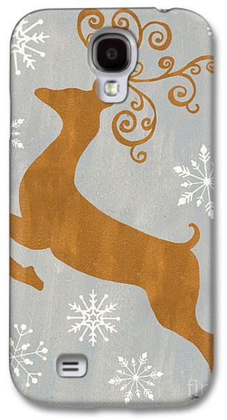 Silver Gold Reindeer Galaxy S4 Case