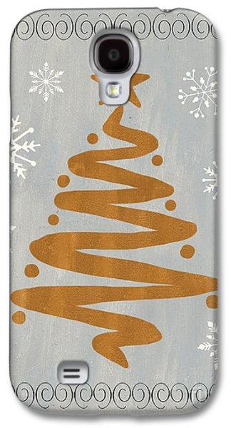 Silver Gold Tree Galaxy S4 Case