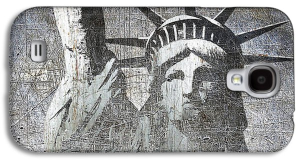 Silver Lady Liberty Galaxy S4 Case