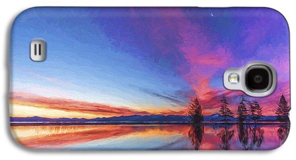 Silver Moon II Galaxy S4 Case