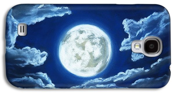Silver Moon - Sky And Clouds Collection Galaxy S4 Case by Anastasiya Malakhova