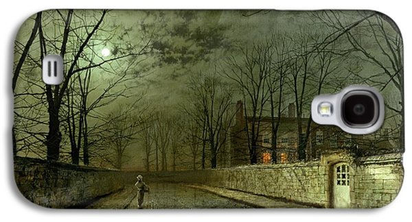 Silver Moonlight Galaxy S4 Case by John Atkinson Grimshaw