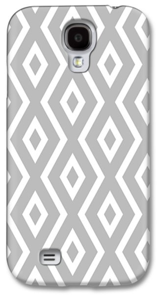 Silver Pattern Galaxy S4 Case by Christina Rollo