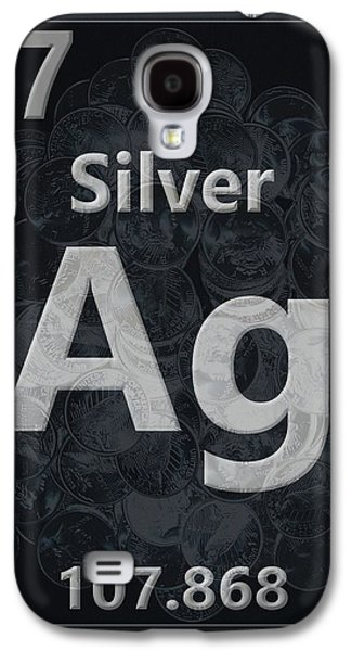 Silver Periodic Table Galaxy S4 Case by Dan Sproul