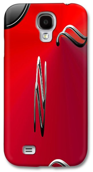 Silver Shapes On Red Galaxy S4 Case by Aimee L Maher Photography and Art Visit ALMGallerydotcom