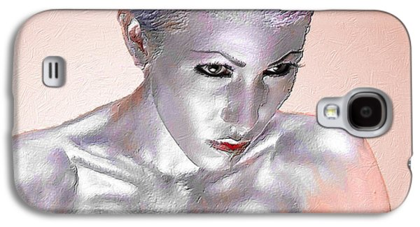 Silver Woman 1 Galaxy S4 Case