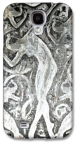 Silver Woman In The Machine Frieze Galaxy S4 Case