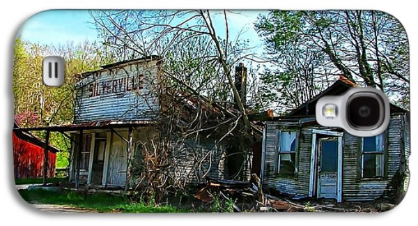 Silverville Ghost Town In Blues Galaxy S4 Case by Julie Dant