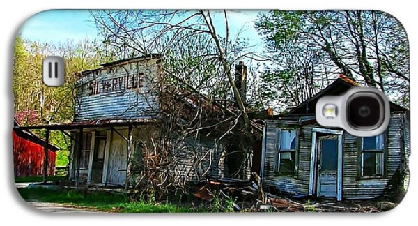 Silverville Ghost Town In Blues Galaxy S4 Case