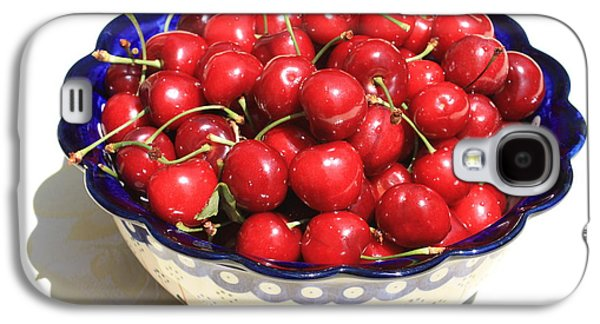 Grocery Store Galaxy S4 Cases - Simply a Bowl of Cherries Galaxy S4 Case by Carol Groenen
