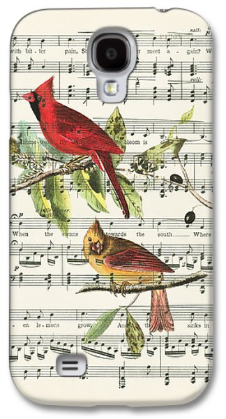 Swallow Galaxy S4 Case - Singing Cardinals by Delphimages Photo Creations