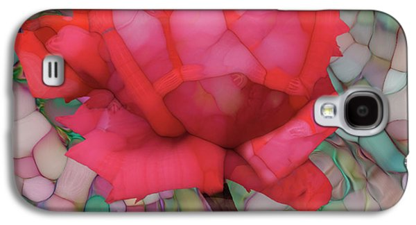 Single Rose Galaxy S4 Case by Jack Zulli