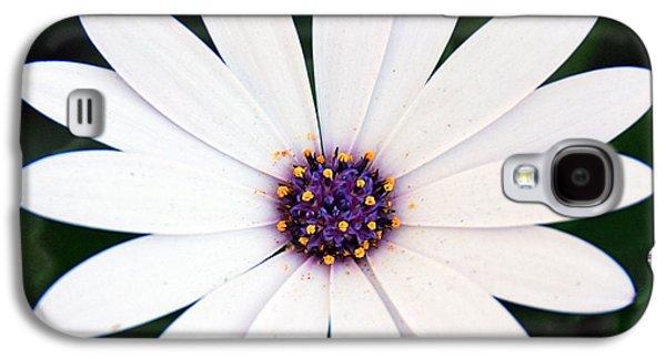 Single White Daisy Macro Galaxy S4 Case by Georgiana Romanovna